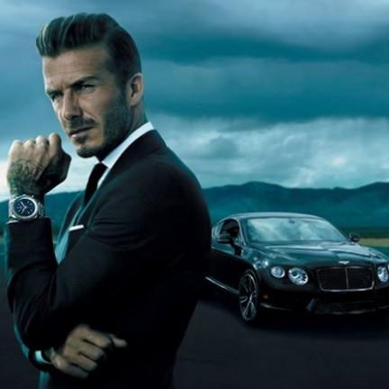David Beckham Breitling Bentley