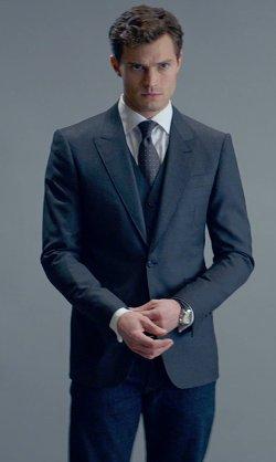 Omega watch wearer Jamie Dornan in London this week at the premier of 50 Shades of Grey.