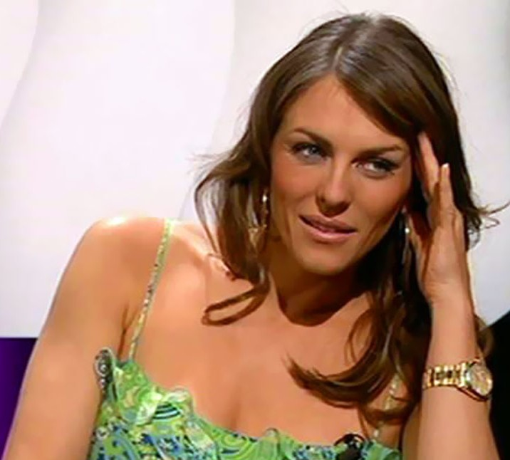 Gold Rolex Style Sensation, Elizabeth Hurley blings in The Royals