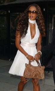 Naomi Campbell Balenciaga Suede First Bag