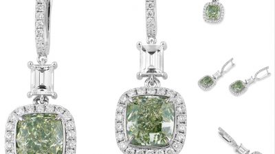 THE STUNNING APPEAL OF LUXURY GREEN DIAMOND EARRINGS