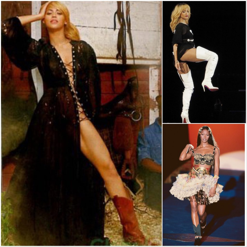 Cowboy Boot Beyonce, Rihanna and Naomi Campbell