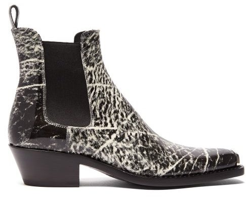 Calvin Klein Print Chelsea Boot