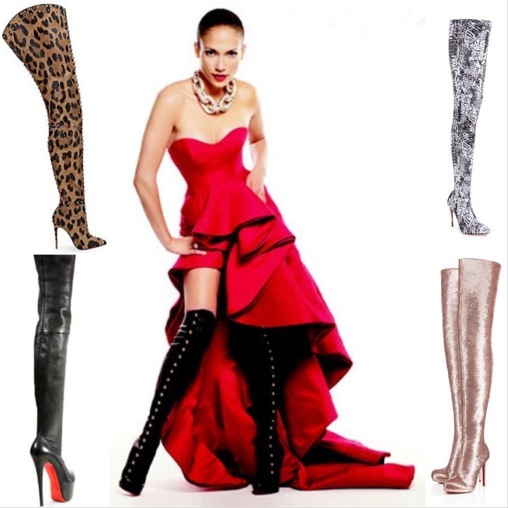 Jennifer Lopez and Christian Louboutin Supra Fifre 120 Thigh-high Boots