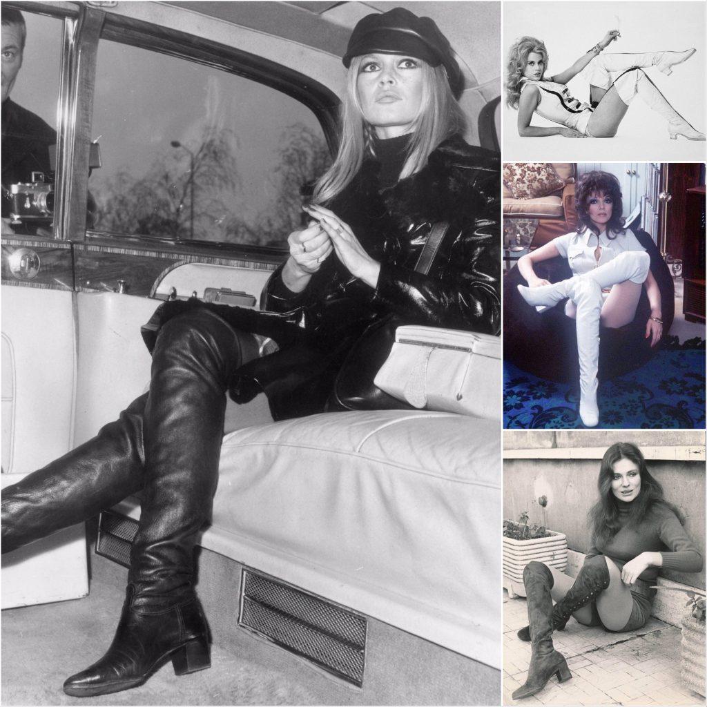 Vintage Thigh High Boots Brigitte Bardot, Jane Fonda, Joan Collins, Jacqueline Blisset
