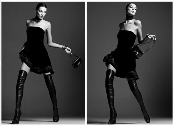 Daria Werbowy for Forum Tufi Duek ad campaign Fall 2009