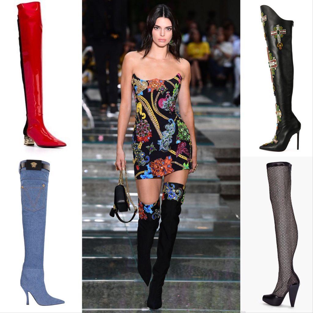 Kendall Jenner Versace Thigh High Boots