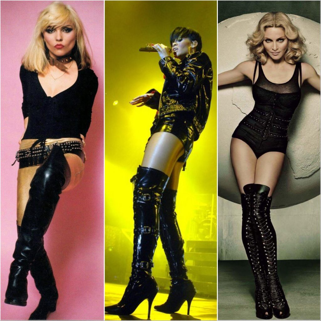 Thigh High Boot Musical Icons Debbie Harry, Rihanna and Madonna