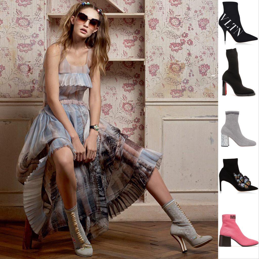 Gigi Haddid Fendi sock boots