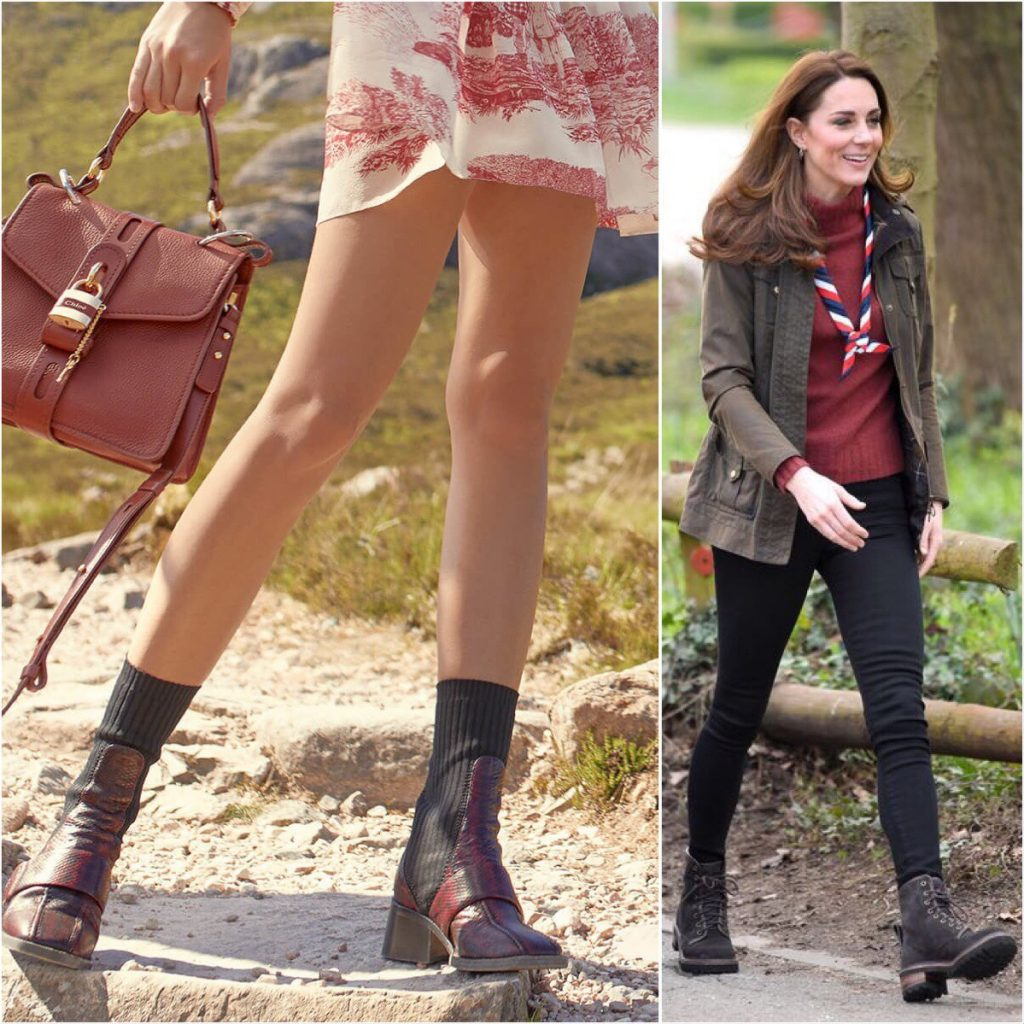 Chloe Hiking Boot Kate Middleton
