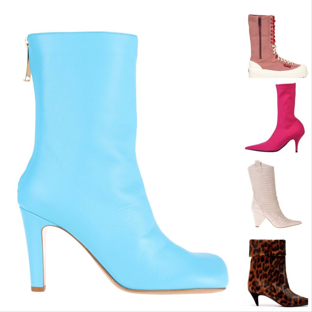 Mid Calf Boots Colour Styles