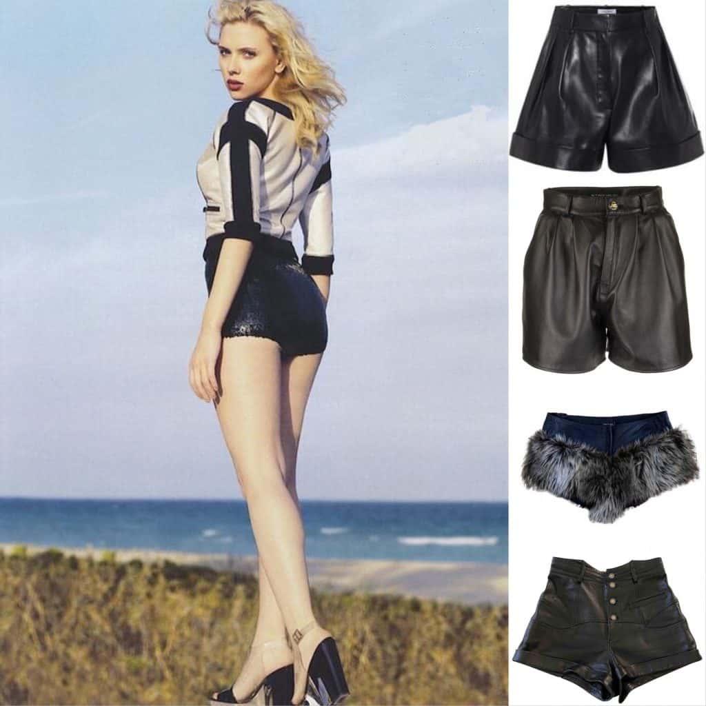 Scarlett Johansson  Chanel Shorts