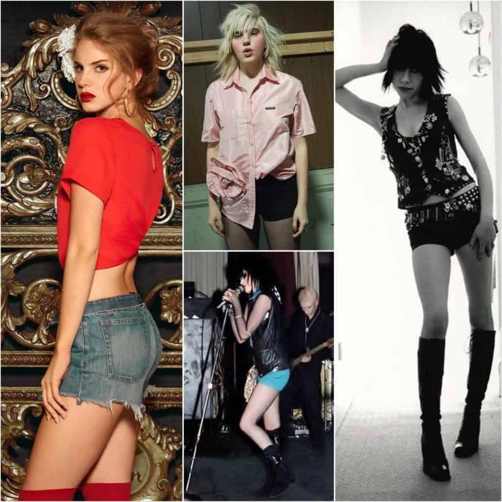 Lana Del Ray, Julia Cummings, Siouxsie, PJ Harvey Short Shorts