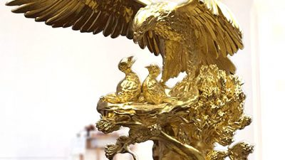 The Ultimate Luxury Golden Eagle Sculpture?